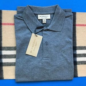 NEW BURBERRY LONDON MEN'S CASUAL POLO SHIRT COTTON